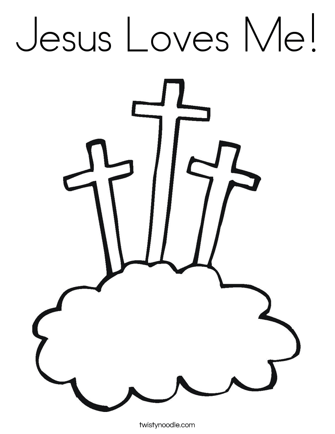 Jesus loves me small coloring page coloring home, jesus loves me coloring page