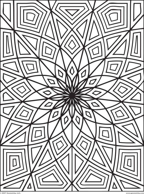 optical illusions coloring pages # 18