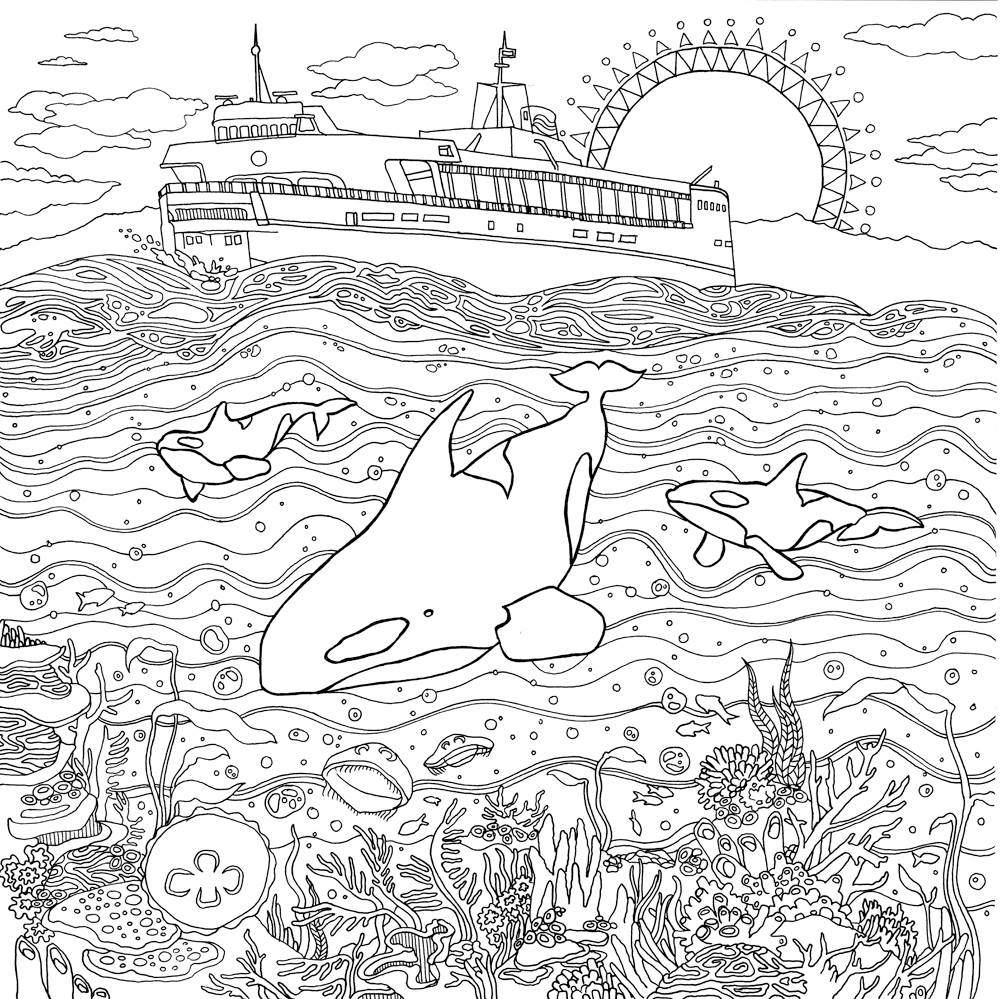 Landscapes Coloring Pages For Adults Coloring Home