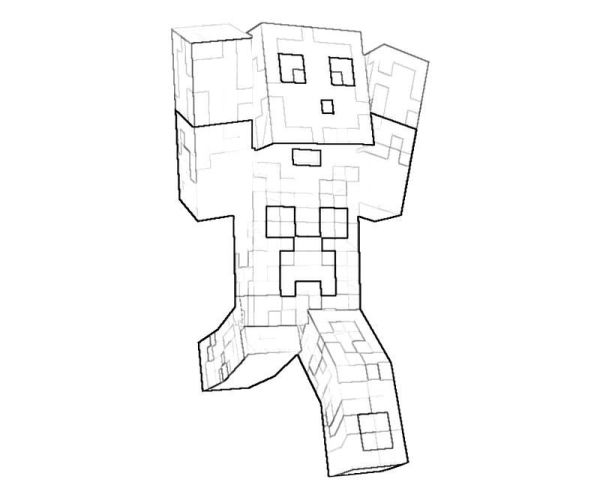 minecraft printable coloring pages # 73