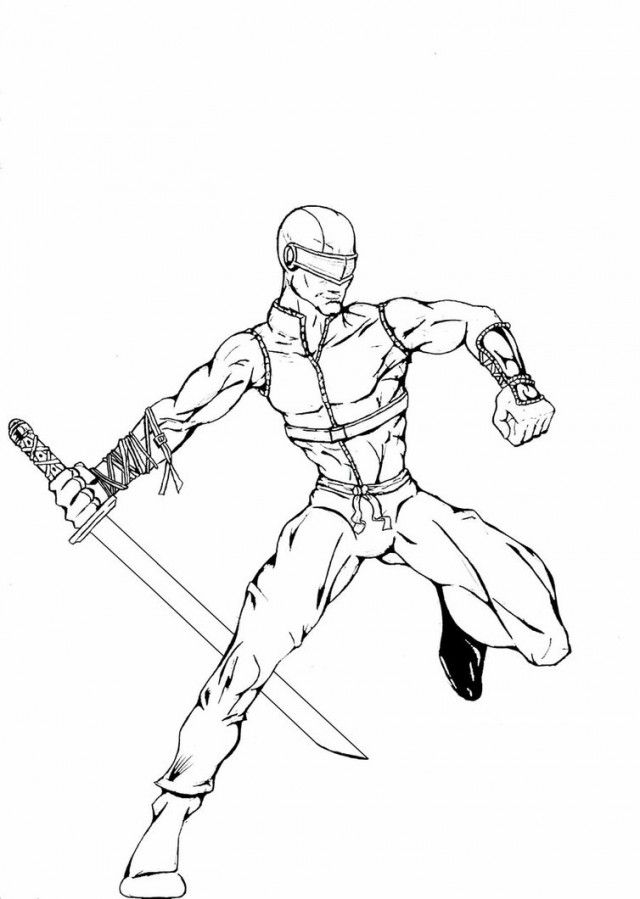 Gi joe snake eyes coloring pages coloring home, coloring kids
