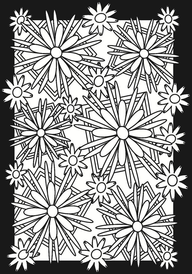 Fractal coloring pages coloring home, fun coloring pages
