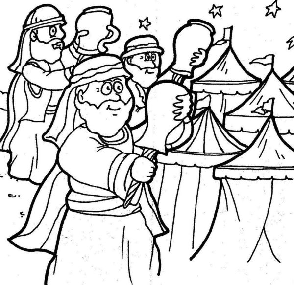 gideon coloring pages # 8