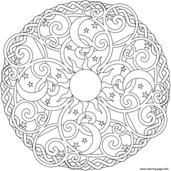 sun and moon coloring pages # 11