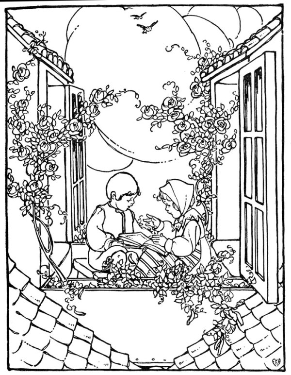 vintage coloring pages # 10