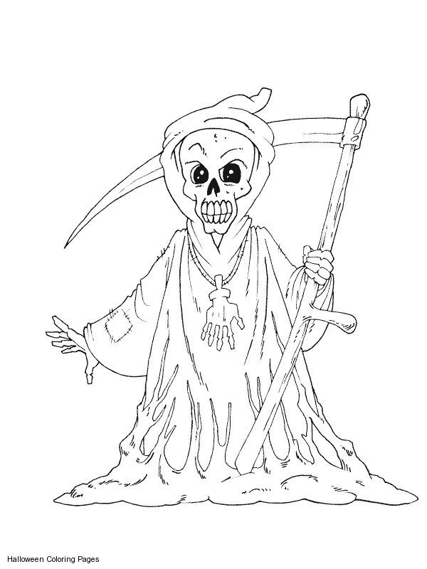 grim reaper coloring pages # 11