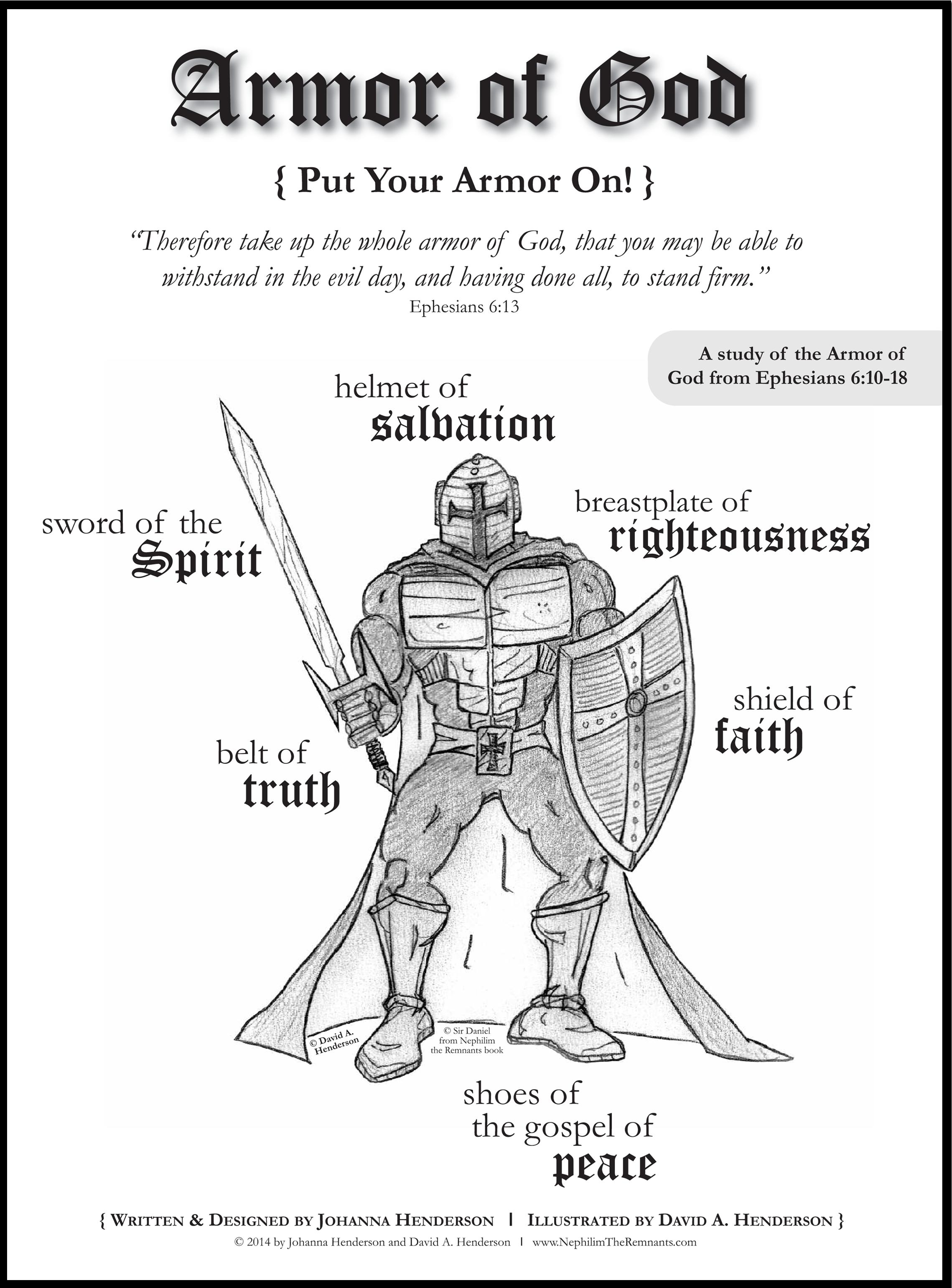 Free Coloring Pages For Armor Of God - Coloring Home