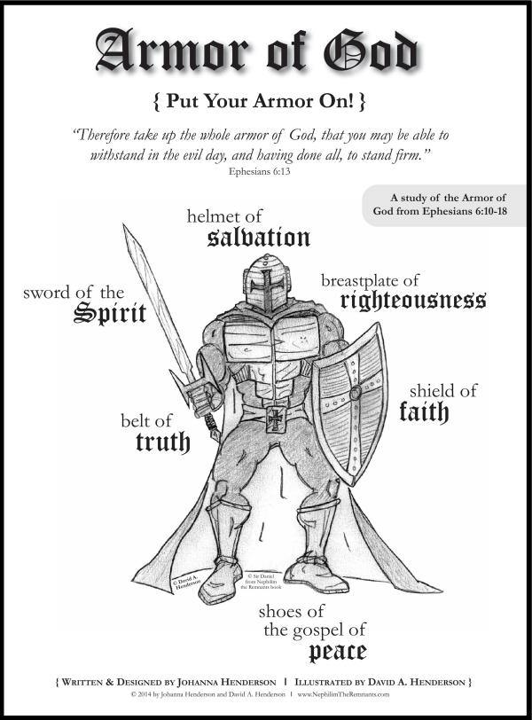 armor of god coloring page # 48