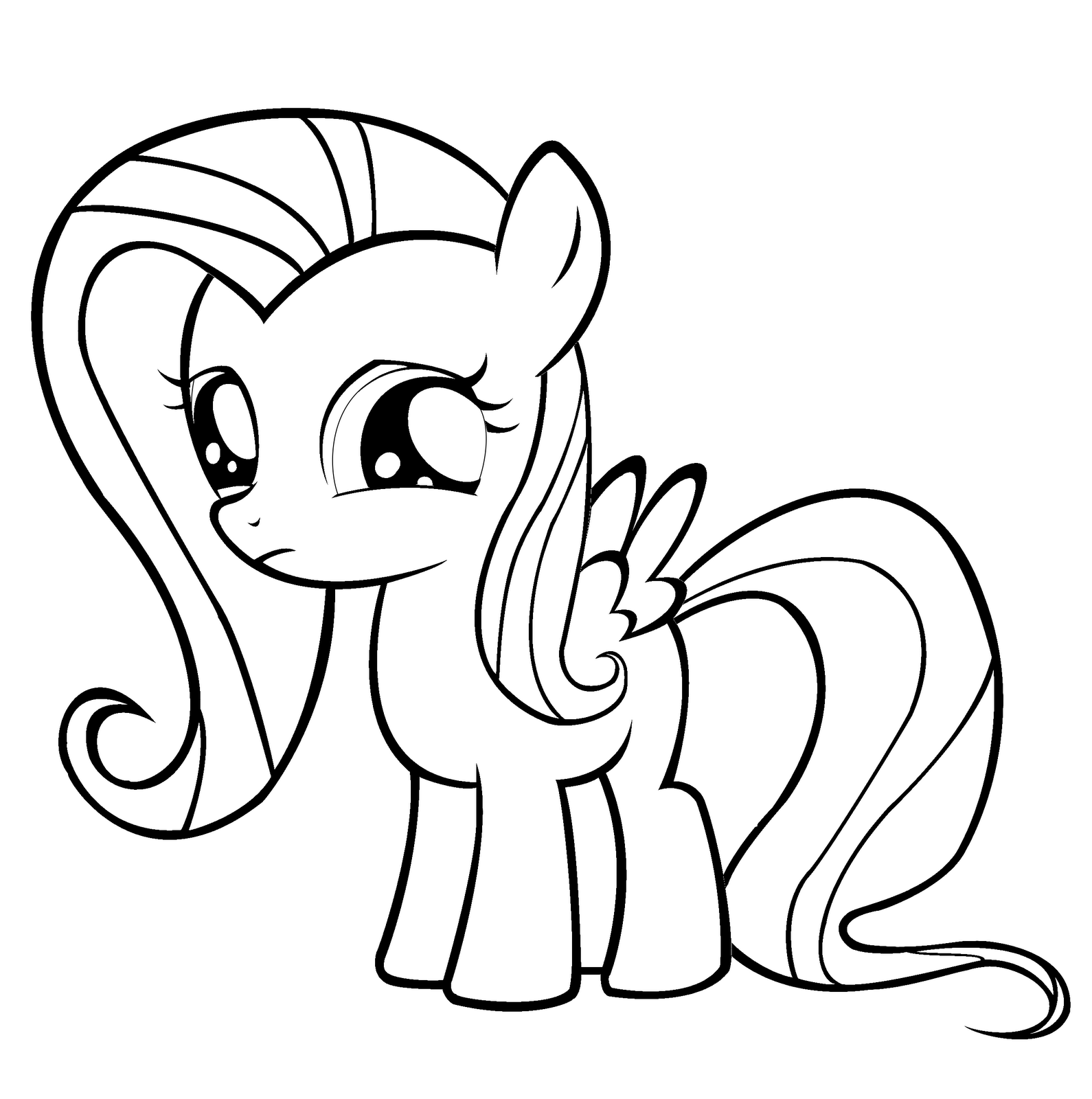 My Little Pony Coloring Pages Fluttershy Forcoloringpages
