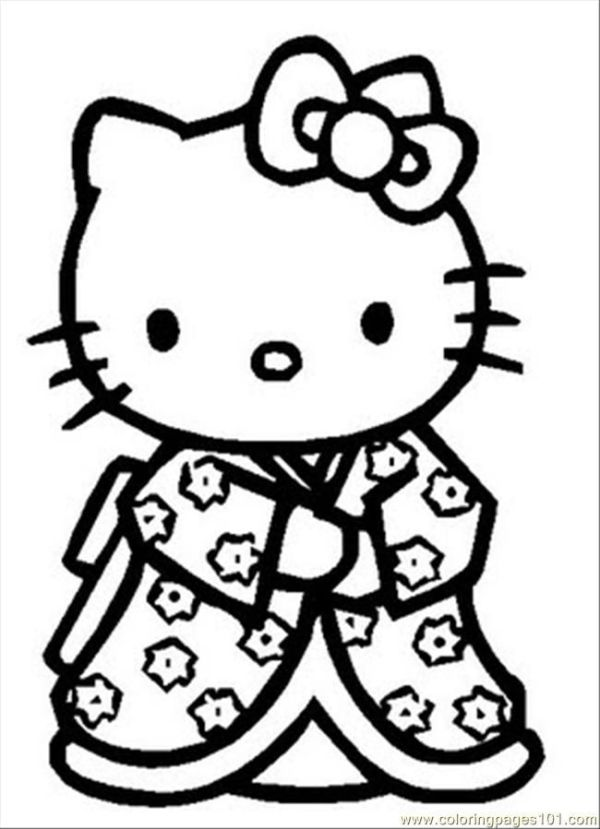 hello kitty free coloring pages # 8