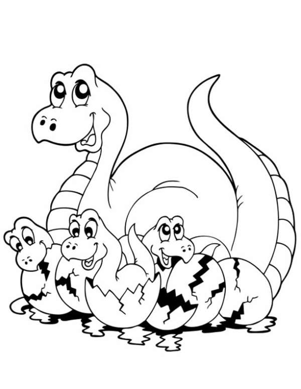baby dinosaur coloring pages # 6
