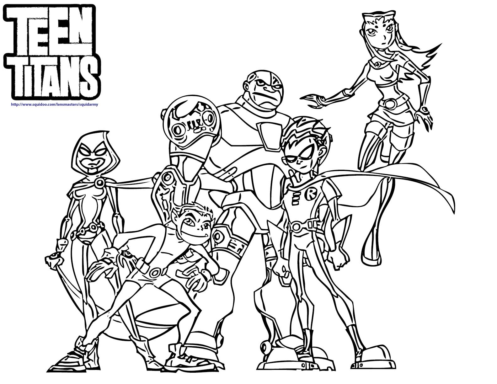 Coloring Pages Of Beast Boy Teen Titans Go Coloring Home