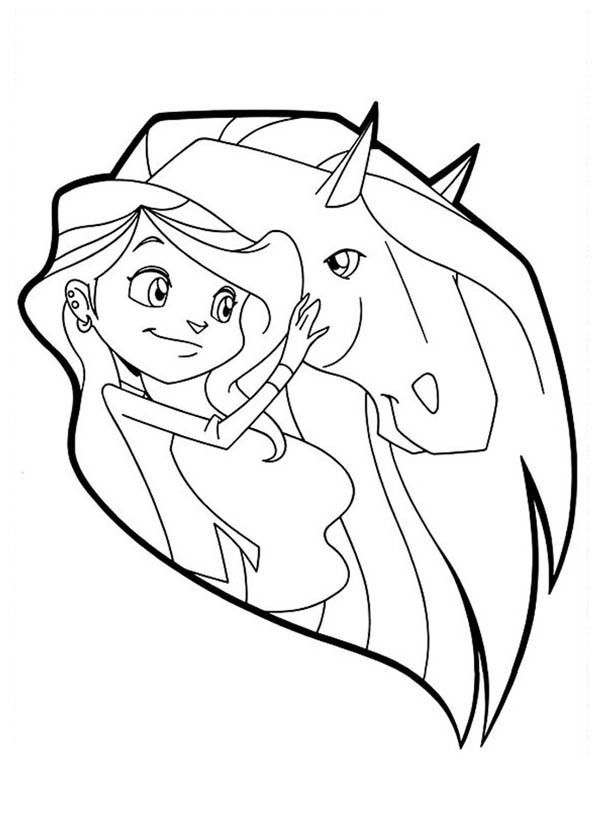 Horseland alma coloring pages coloring home, free coloring pages