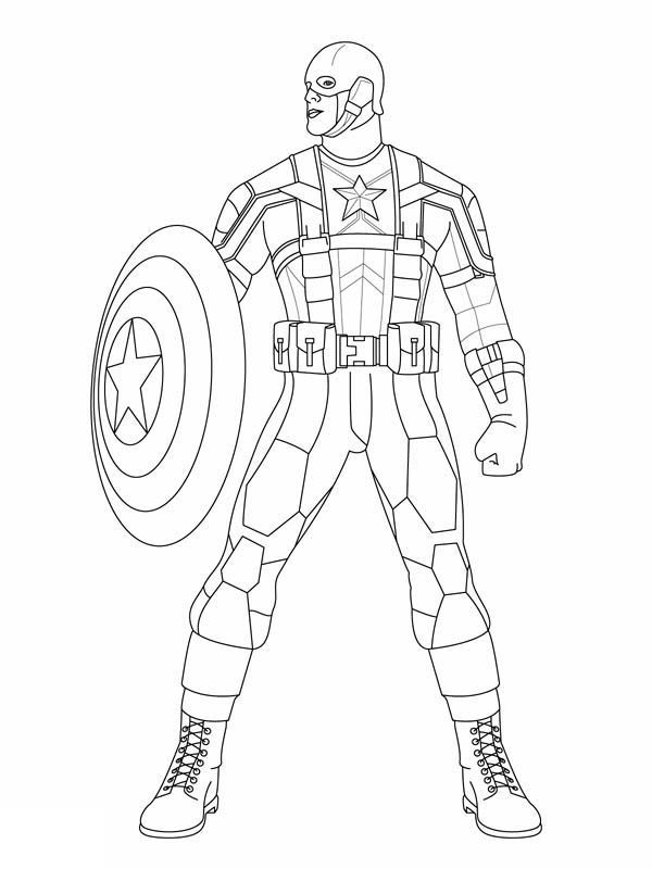 Marvel captain america coloring pages coloring home, free coloring pages