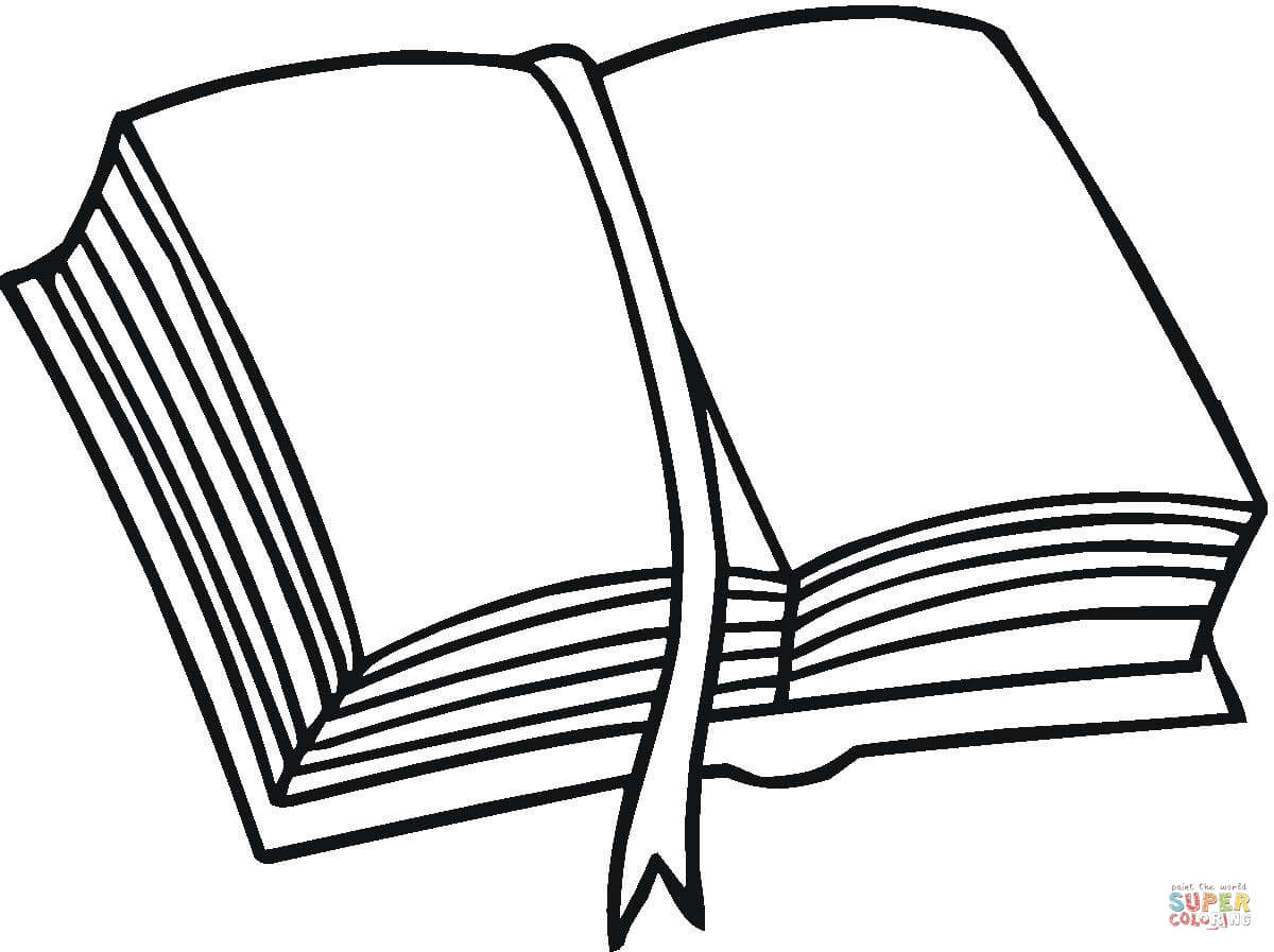 A Pile Of Books Coloring Page Book Pages Open Book Clip Art