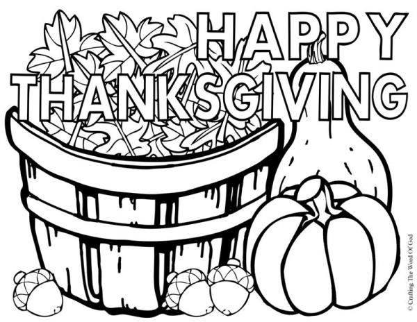 thanksgiving color pages free # 3