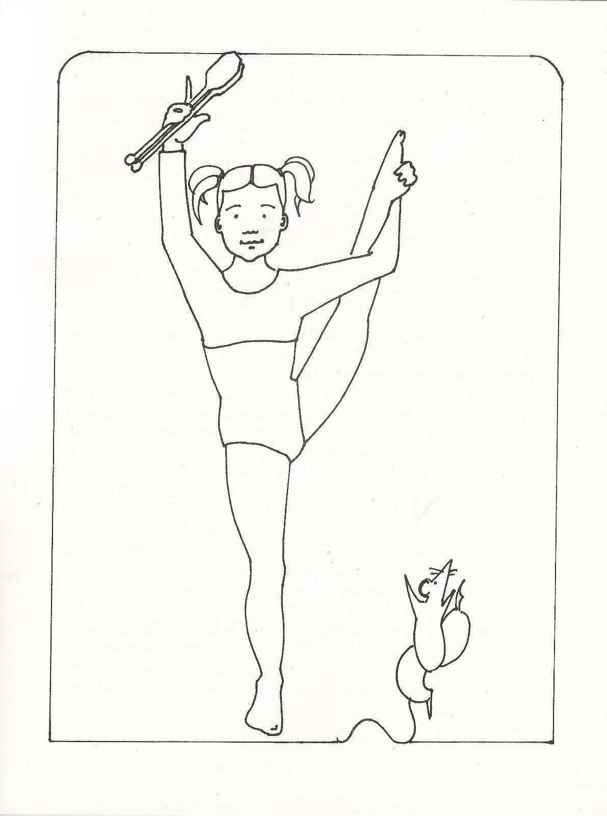Printable Gymnastics Coloring Pages Coloring Home
