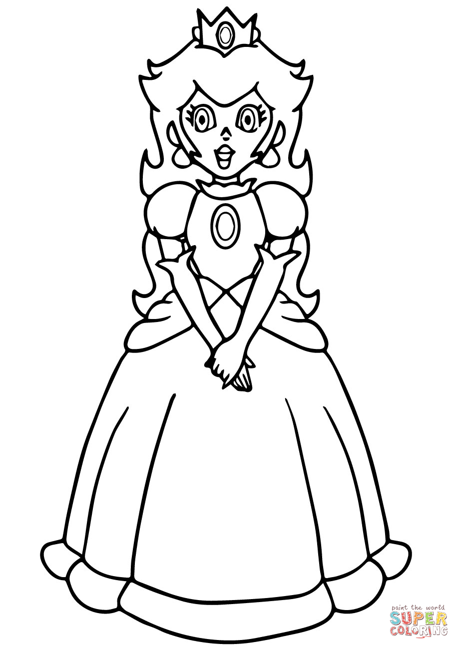 Princess Daisy Printable Coloring Pages High Quality Coloring