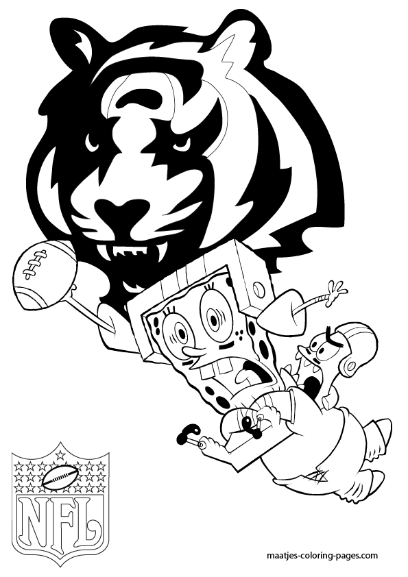 Printable cincinnati bengals coloring pages coloring home, fun coloring pages