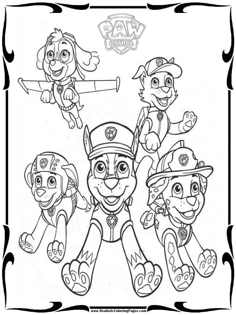 Free Paw Patrol Coloring Pages To Print Realistic Coloring Pages