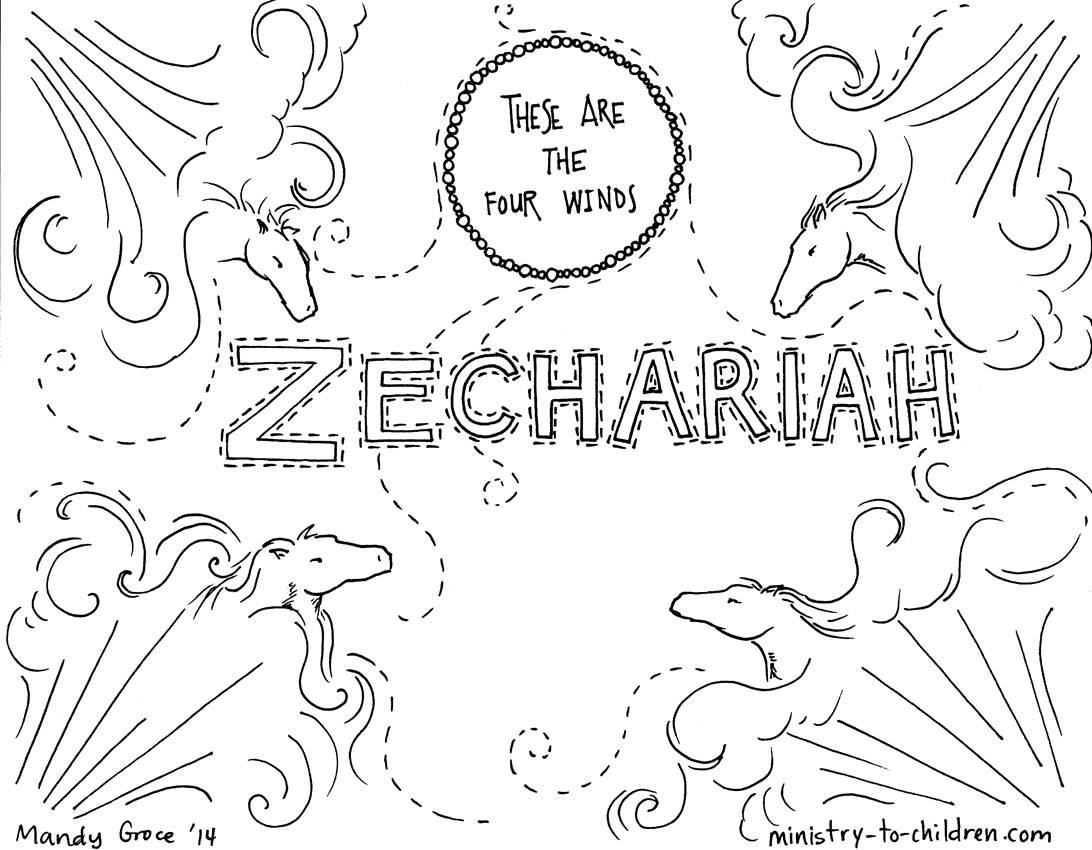 Zechariah Bible Coloring Page Coloring Home