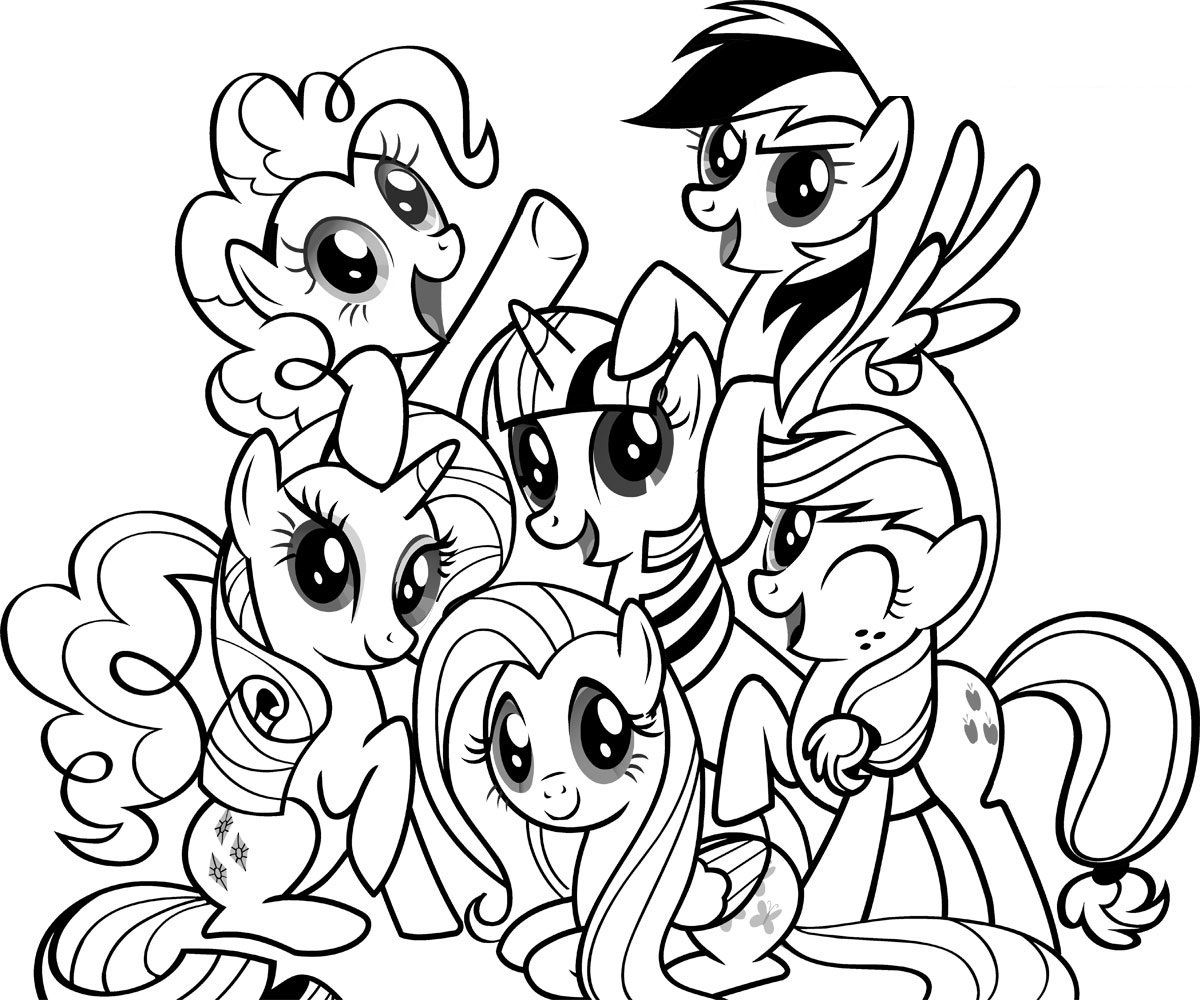 Coloring Pages My Little Pony Coloring Kids