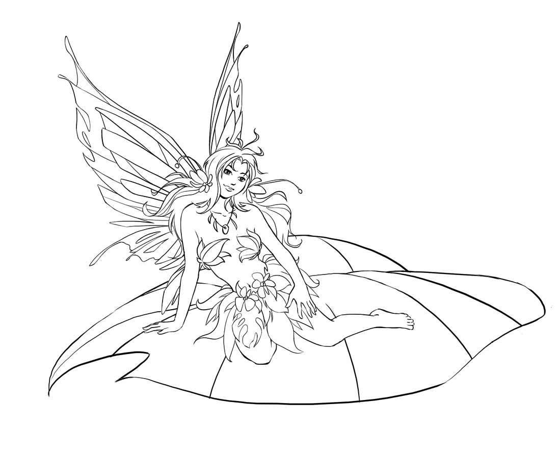 Fairies Coloring Pages 10 Coloring Kids