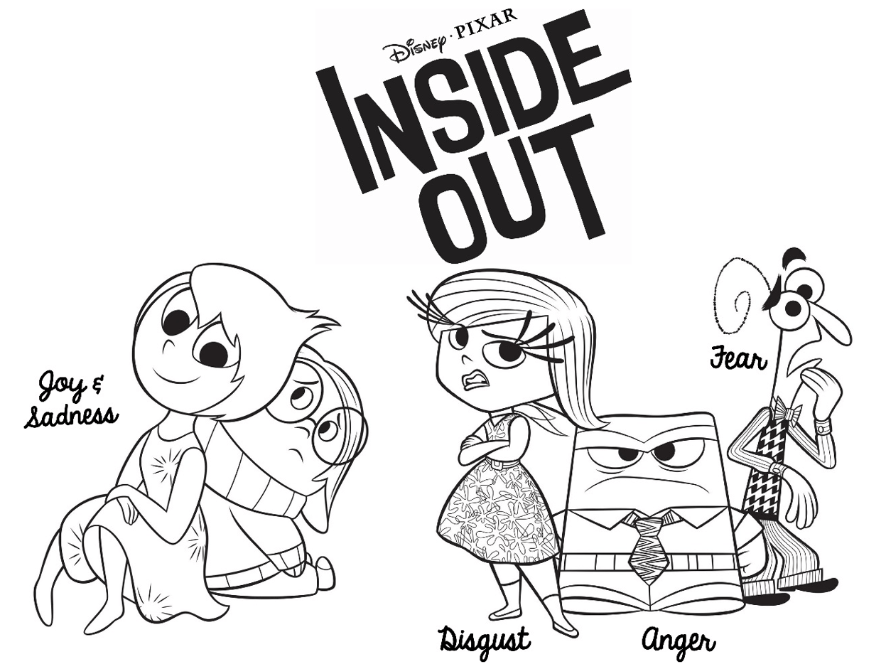 Inside Out Coloring Page 1 Coloring Kids