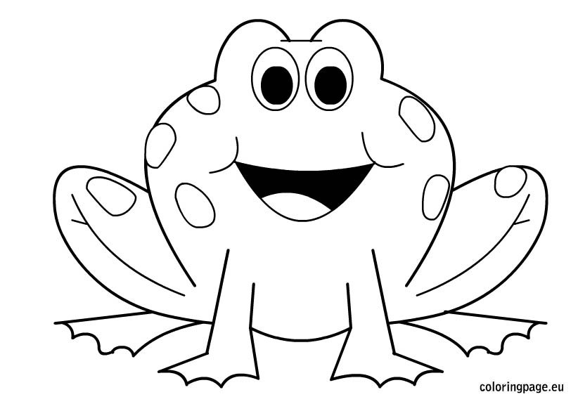 Frogs – Coloring Page
