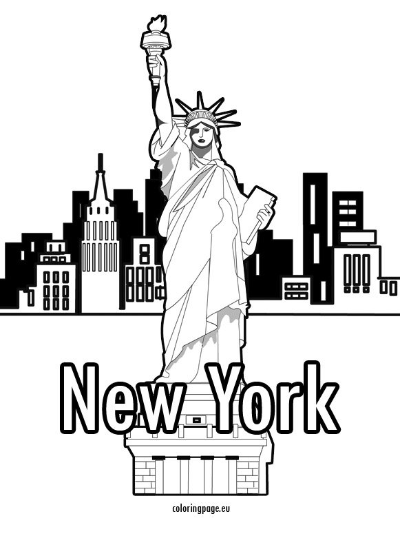 new york coloring pages # 38