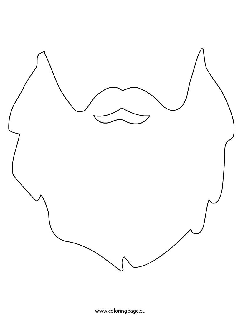 Beard Template Coloring Page