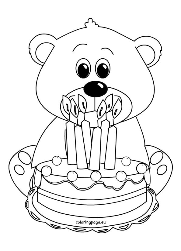 Cute Teddy Bear Coloring Picture Coloring Page