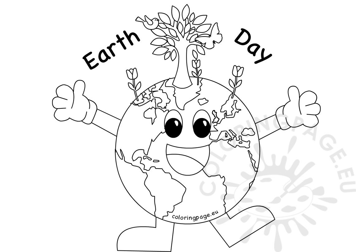 Earth Day 2017 Coloring Sheet Coloring Page