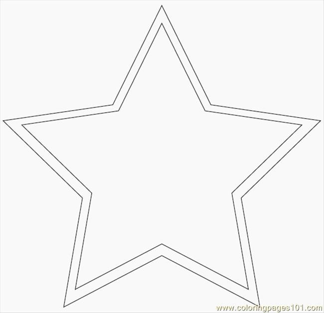 Printable Large Star Shape Patterns