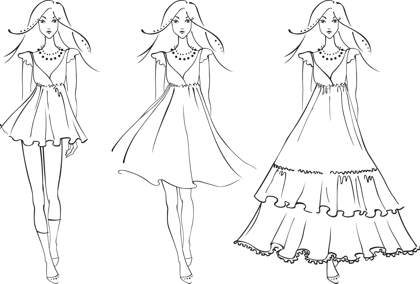 Coloring Pages Dresses