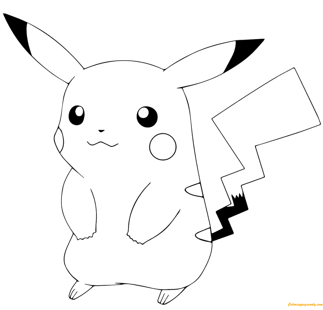 Pikachu From Pokémon Go Coloring Page Free Coloring Pages Online