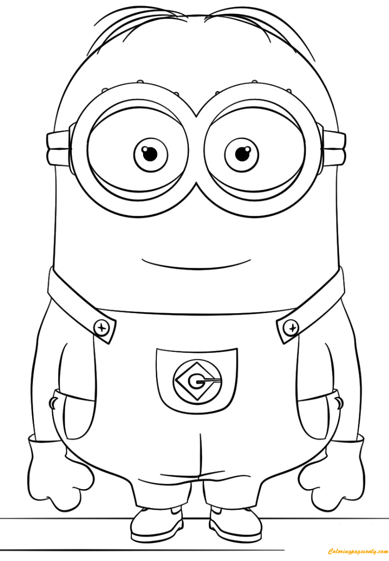 Dave From Minion Coloring Page Free Coloring Pages Online