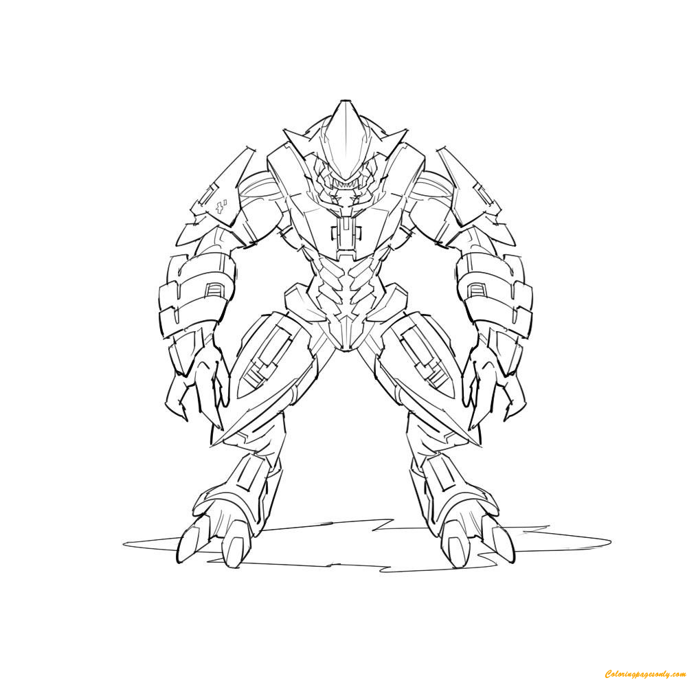 Arbiter From Halo Coloring Page Free Coloring Pages Online