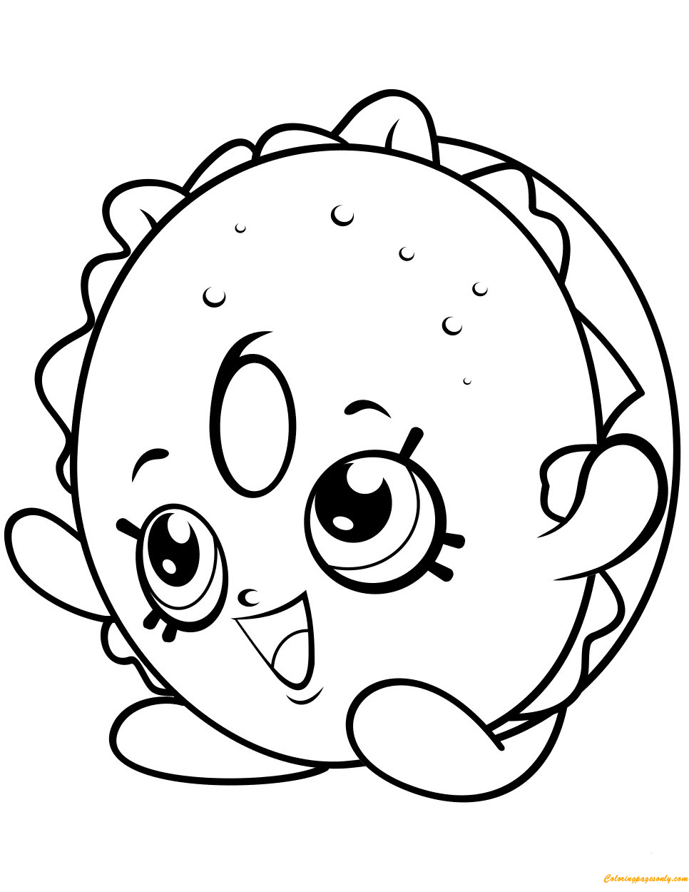 Bagel Billy Shopkin Season 4 Coloring Page Free Coloring Pages