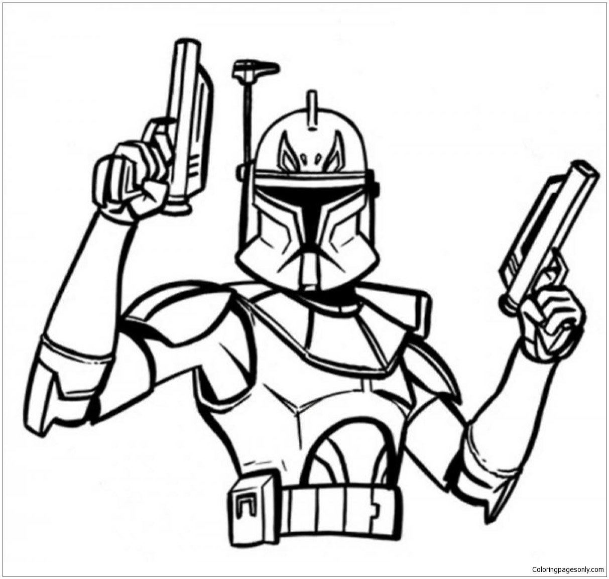 Captain Rex Star Wars Coloring Page Free Coloring Pages Online