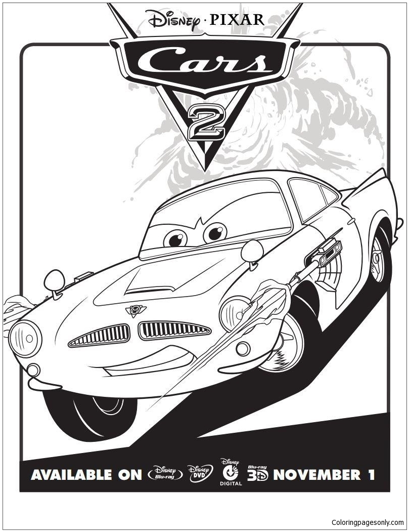 Disney Cars 2 4 Coloring Page Free Coloring Pages Online