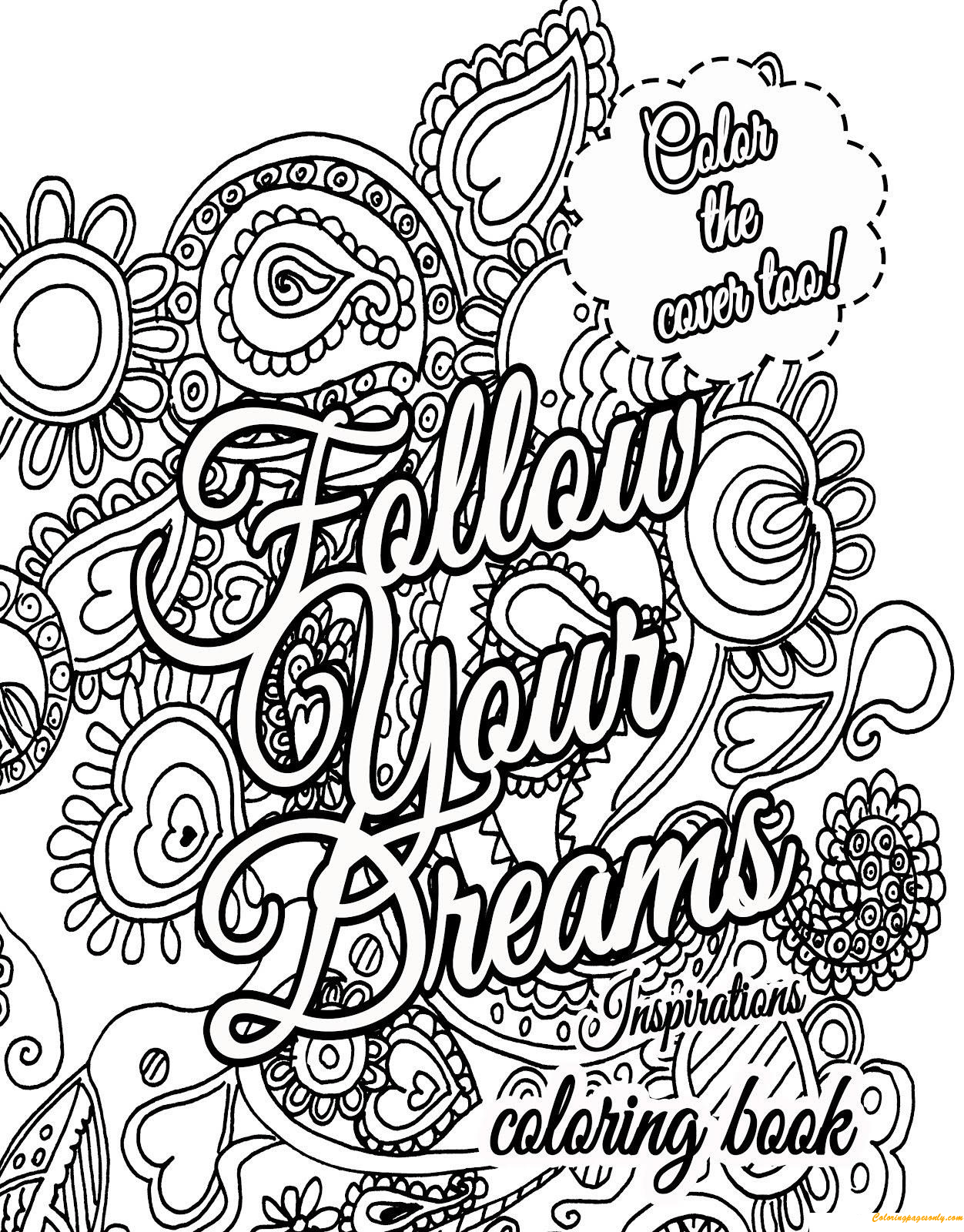 Dreams Quotes Coloring Page Free Coloring Pages Online