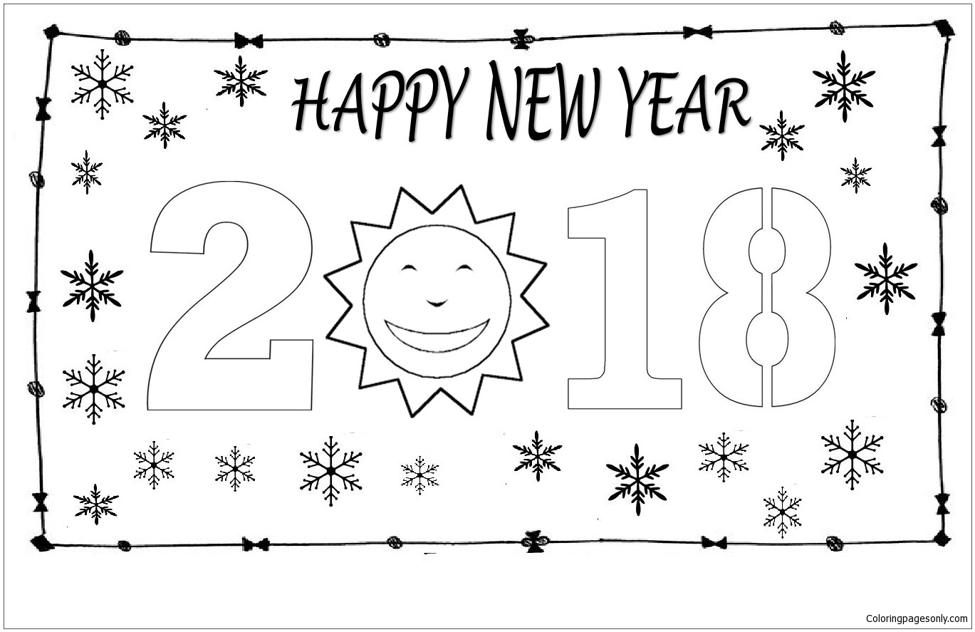 Happy New Year 12 Coloring Page Free Coloring Pages Online