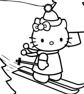 Hello Kitty Alphabet Coloring Page Free Pages Online Skating On Christmas Day