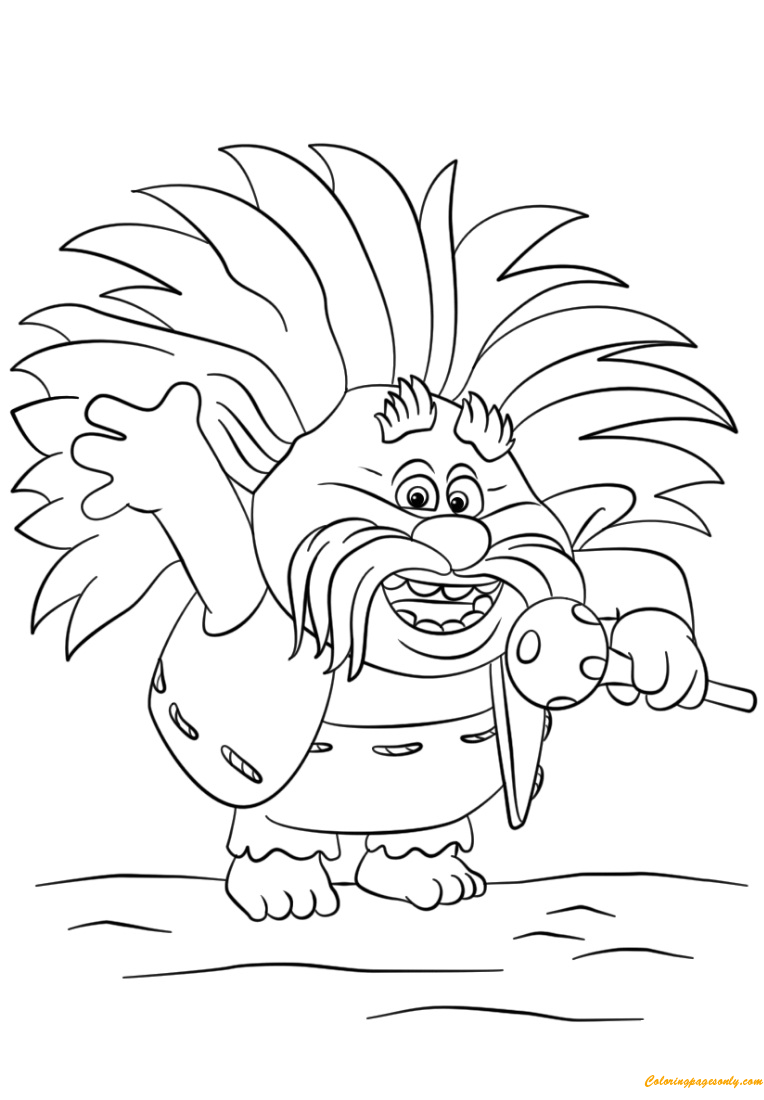 King Peppy From Trolls Coloring Page Free Coloring Pages Online
