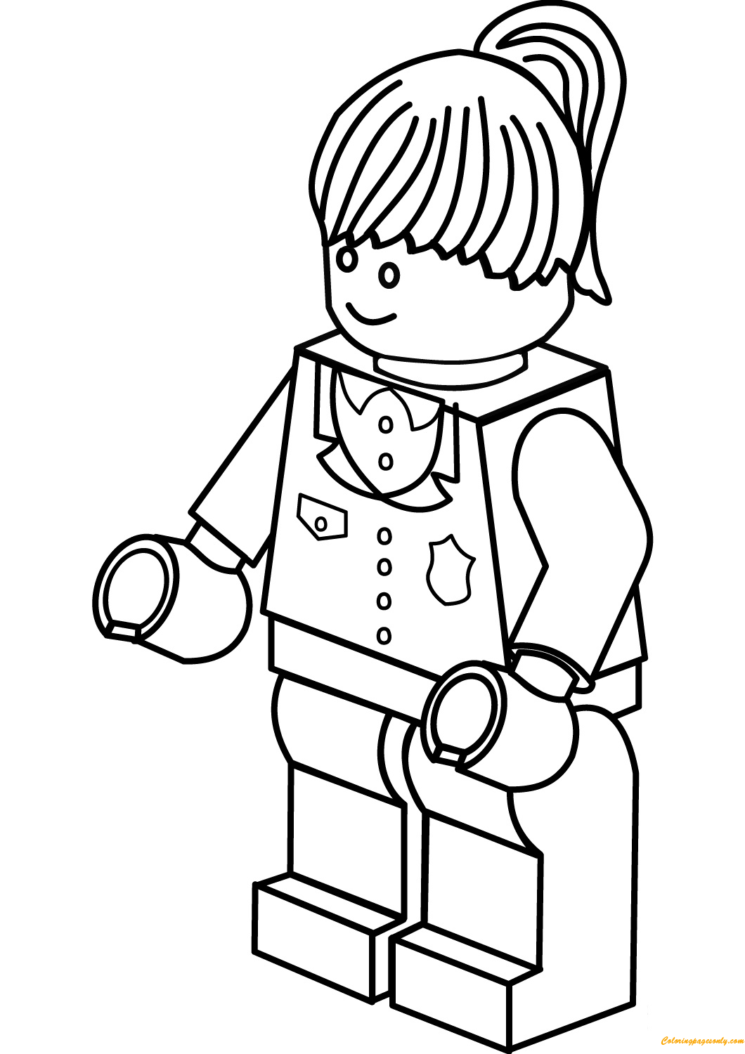 Lego City Police Woman Coloring Page Free Coloring Pages Online