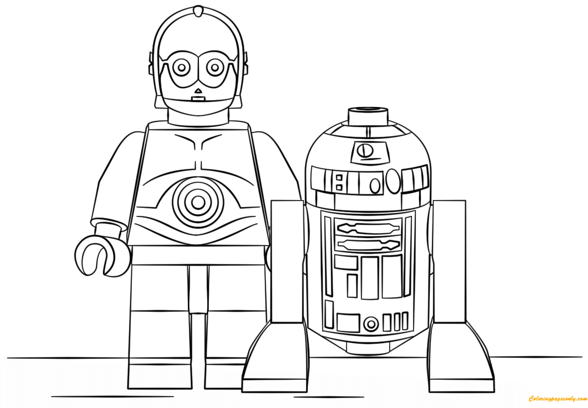 Lego Star Wars R2d2 And C3po Coloring Page Free Coloring Pages