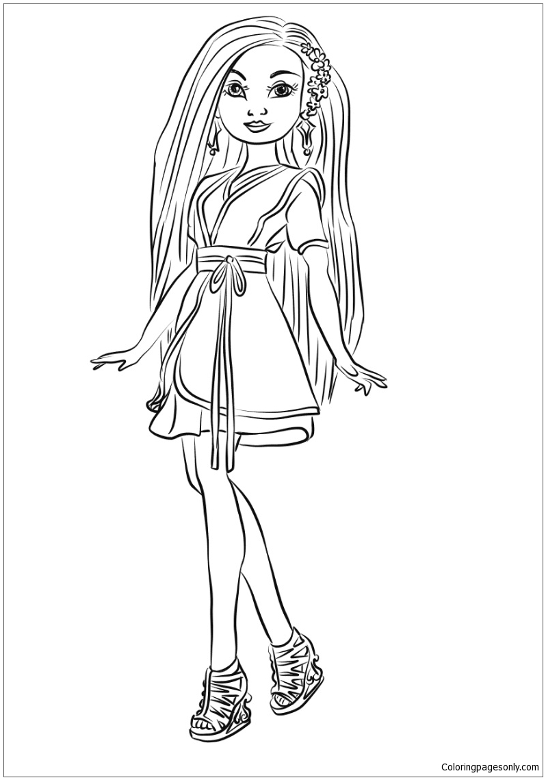 Lonnie From Descendants Wicked World Coloring Page Free Coloring