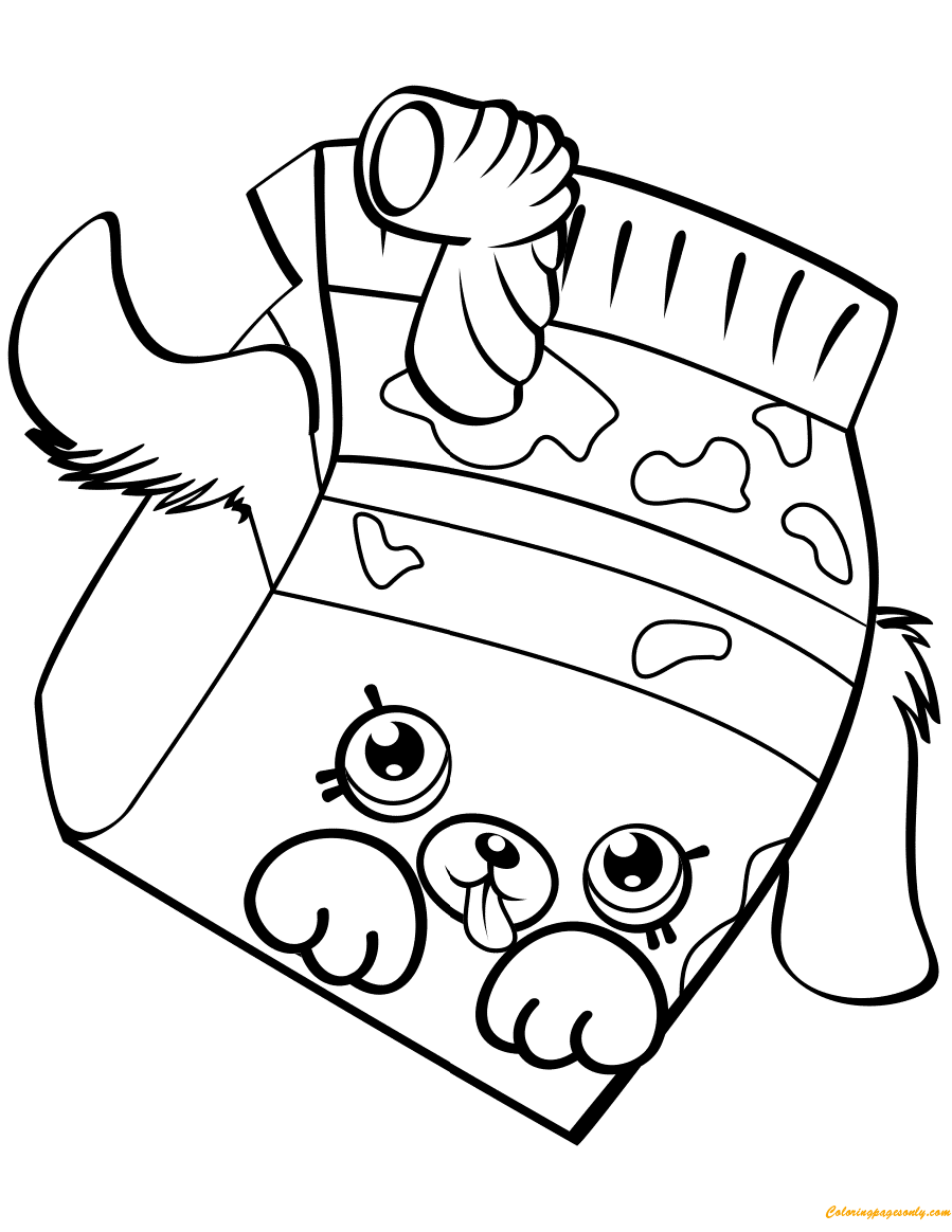 Milk Bud Shopkin Season 4 Coloring Page Free Coloring Pages Online