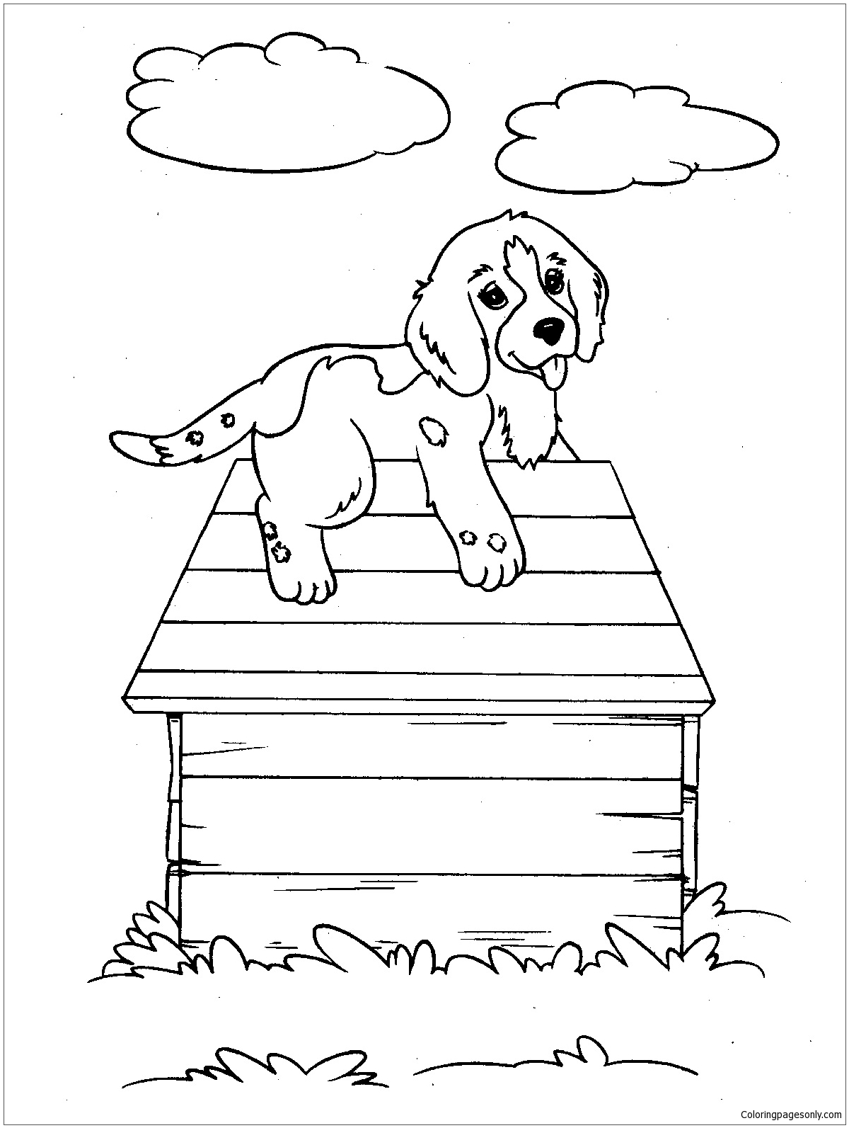 New Puppy Dog Coloring Page Free Coloring Pages Online